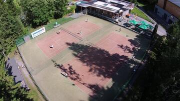 Tennis courts in Schoppernau